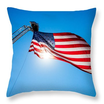 Stars And Stripes Forever Throw Pillow