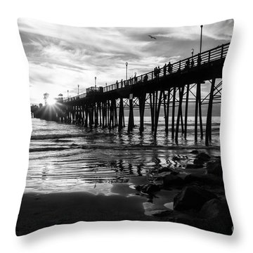 Stars And Swirls In Oceanside Throw Pillow