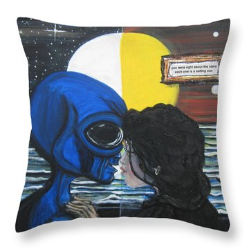 Stars Are Setting Suns Throw Pillow