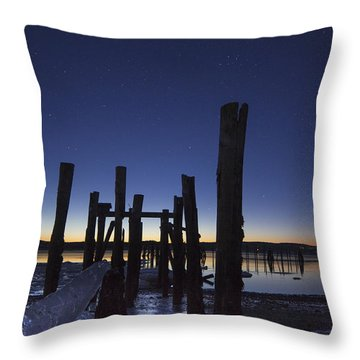 Stars At Sandy Point Sunrise  Throw Pillow