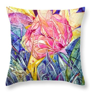 Stars In Eyes Flowers In Hand Throw Pillow