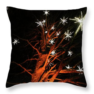 Stars In The Tree Throw Pillow