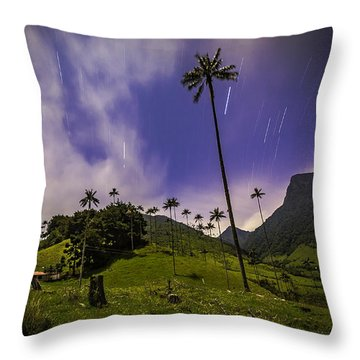 Stars In The Valley Throw Pillow