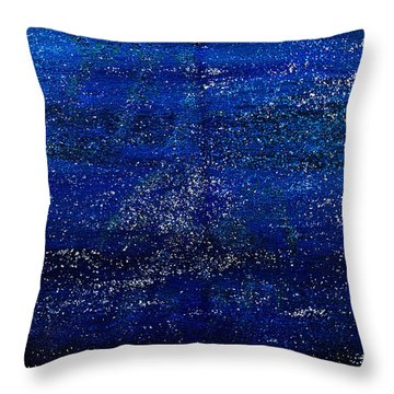 Throw Pillow featuring the painting One Star Painting- A Galaxy Of Them by Renee Anderson