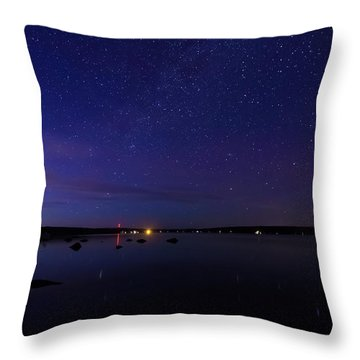 Throw Pillow featuring the photograph Stars Over Branch Lake by Kirkodd Photography Of New England