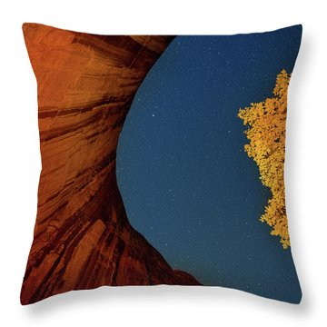 Stars Over Canyon Throw Pillow