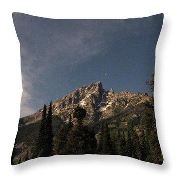 Stars Over Grand Teton Throw Pillow