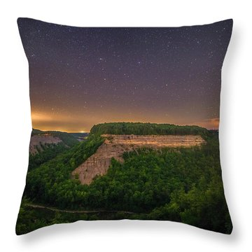 Throw Pillow featuring the photograph Stars Over Great Bend by Mark Papke