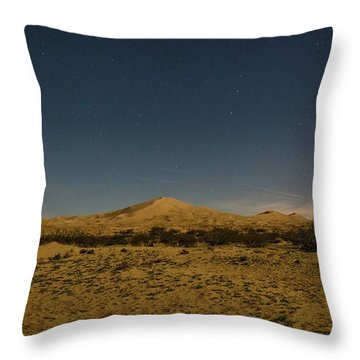 Stars Over Kelso Dunes Throw Pillow