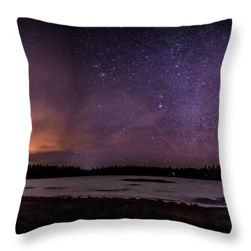 Stars Over Lake Eaton Throw Pillow