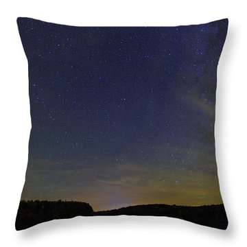 Stars Over Letchworth Throw Pillow