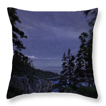 Stars Over Raven's Roost Throw Pillow