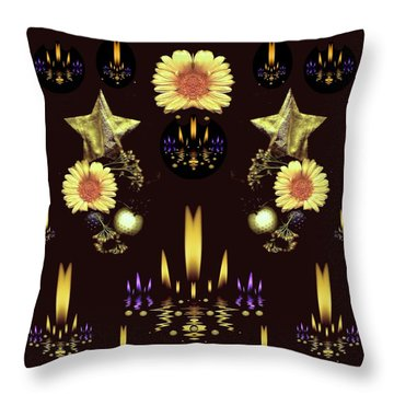 Stars Over The Sacred Sea Of Candles Throw Pillow