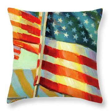 Stars, Stripes, And Cowboys Forever Throw Pillow