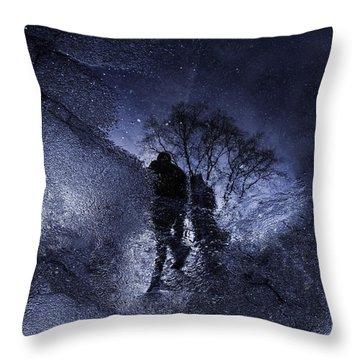 Stars Walking Throw Pillow