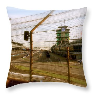 Start Finish Indianapolis Motor Speedway Throw Pillow