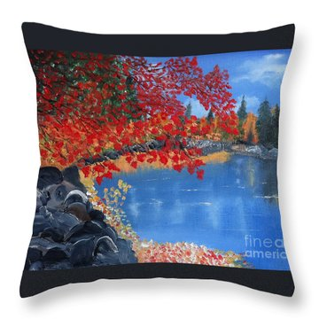 Start Of Fall Throw Pillow
