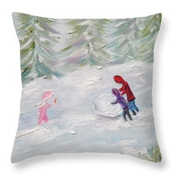 Throw Pillow featuring the painting Start Of Something Big by Judith Rhue