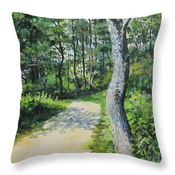 Start Of The Trail Throw Pillow