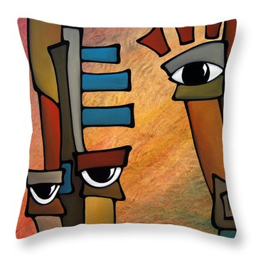 Startled Throw Pillow by Tom Fedro - Fidostudio