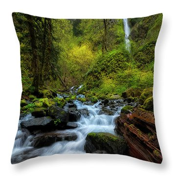 Throw Pillow featuring the photograph Starvation Creek And Falls by Ryan Manuel