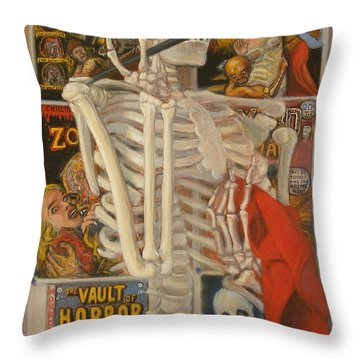 Throw Pillow featuring the painting Starving Artist by Donelli  DiMaria
