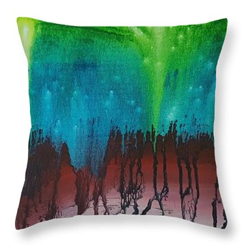 Stary Cave Throw Pillow