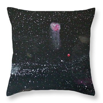 Throw Pillow featuring the painting Starry Night by Michael Lucarelli