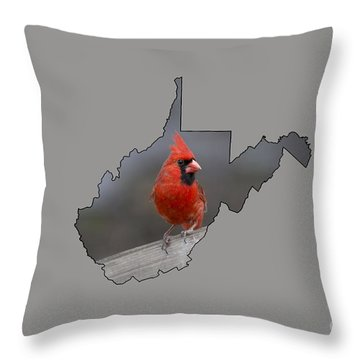 State Bird Of West Virginia Throw Pillow