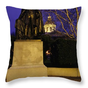 State Capitol Building - Concord New Hampshire Usa Throw Pillow by Erin Paul Donovan