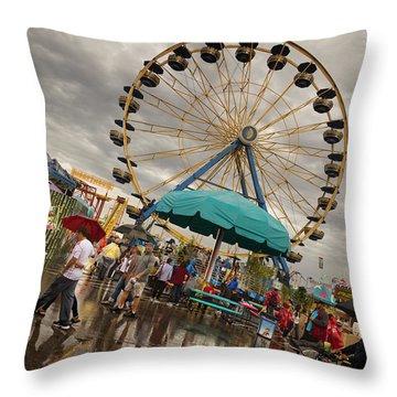 State Fair Of Oklahoma II Throw Pillow