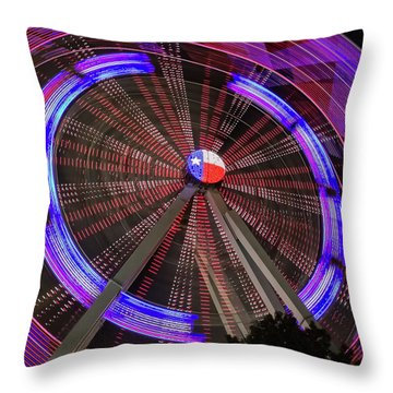 State Fair Of Texas Ferris Wheel Throw Pillow