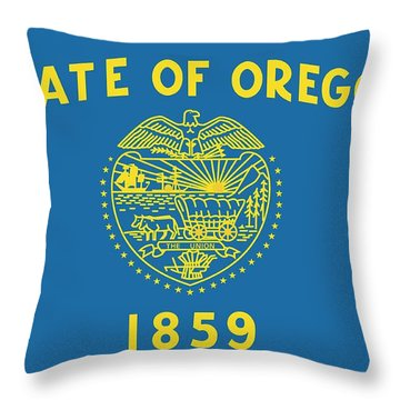 State Flag Of Oregon Throw Pillow by American School