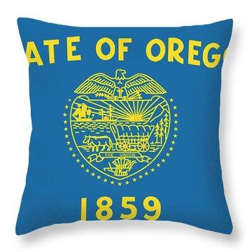 State Flag Of Oregon Throw Pillow
