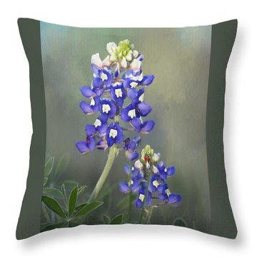 Throw Pillow featuring the photograph State Flower Of Texas by David and Carol Kelly
