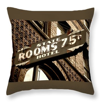 State Hotel - Seattle Throw Pillow