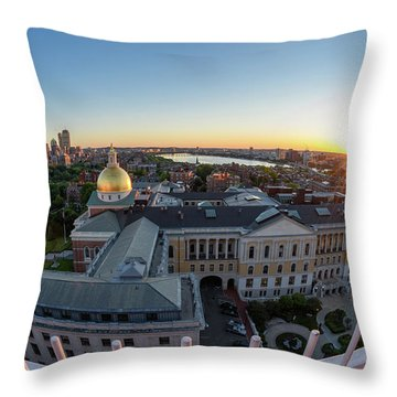 Throw Pillow featuring the photograph State House,fisheye View by Michael Hubley