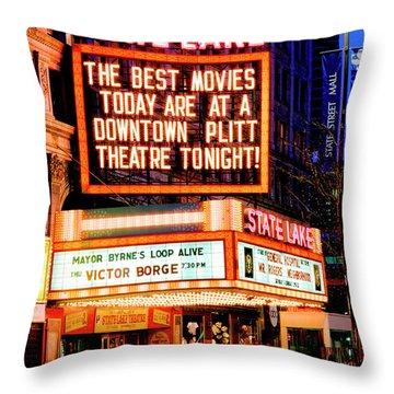 State-lake Theater Throw Pillow