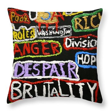 State Of America Throw Pillow by Darrell Black