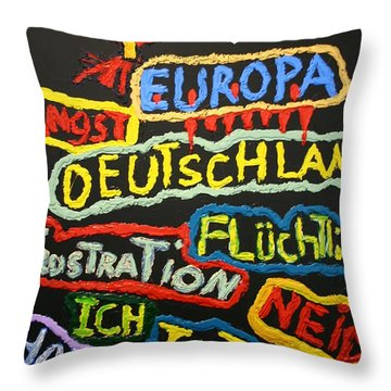 State Of Europe Throw Pillow by Darrell Black