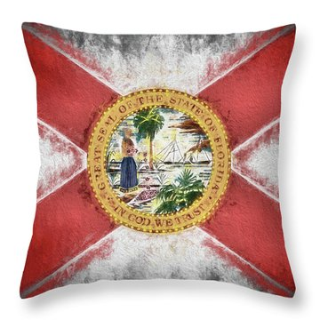 State Of Florida Flag Throw Pillow