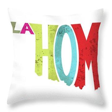 State Of Oklahoma Typography Throw Pillow