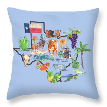 State Of Texas As I Know It Throw Pillow