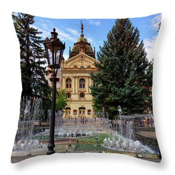 State Theater In The Old Town, Kosice, Slovakia Throw Pillow