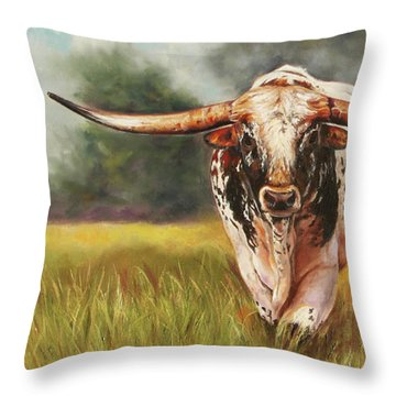 State Your Business Throw Pillow
