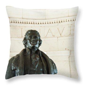 Stately Profile Throw Pillow