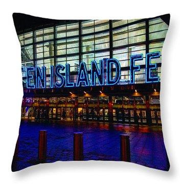 Staten Island Ferry 236 Throw Pillow