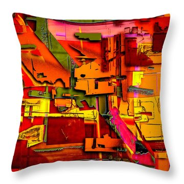 Industrial Autumn Throw Pillow by Don Gradner
