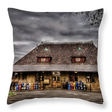 Station - Westfield Nj - The Train Station Throw Pillow by Mike Savad