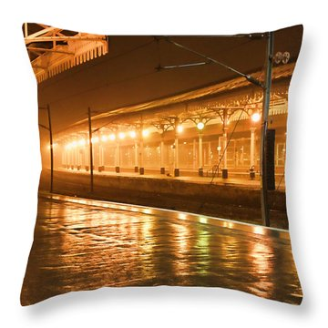 Station At Night Throw Pillow by Tony Grider